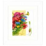 Набор для вышивания арт.LANARTE-144524 Маки 24х29 см