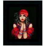 Набор для вышивания арт.LANARTE-144529А Цыганка 41х50 см
