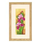 Набор для вышивания арт.LANARTE-144532 Ирисы 12х30 см