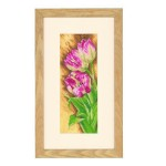 Набор для вышивания арт.LANARTE-144533 Тюльпаны 12х30 см