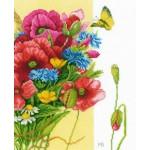 Набор для вышивания арт.LANARTE-144568А Маки