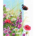 Набор для вышивания арт.LANARTE-144569А Полевые цветы