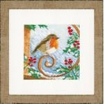 Набор для вышивания арт.LANARTE-145541 Гордый снегирь