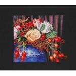 Набор для вышивания арт.LANARTE-145756А Букет из роз и шиповника