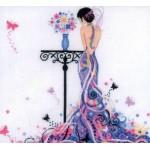 Набор для вышивания арт.LANARTE-145978А Девушка-бабочка