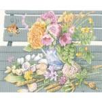 Набор для вышивания арт.LANARTE-147504А Цветы на скамейке
