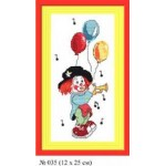 Набор для вышивания арт.Овен - 035 СР Клоун Ми 12x25 см