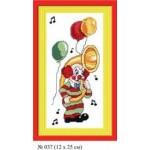 Набор для вышивания арт.Овен - 037 СР Клоун Ля 12x25 см