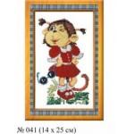 Набор для вышивания арт.Овен - 041 СР Мартышка-Маришка 20x30 см