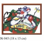 Набор для вышивания арт.Овен - 045 СР Компьютерная мышка 18x15 см
