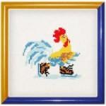 Набор для вышивания арт.Овен - 065А СР Петушок зимой 10x10 см