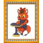 Набор для вышивания арт.Овен - 069 М Лисичка в кафе 11x14 см