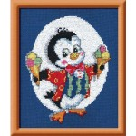 Набор для вышивания арт.Овен - 071 Пингвин с мороженным