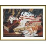 Набор для вышивания арт.ВЫШ -К-02 Котята,играющие на столе 31x21 см