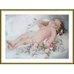 Набор для вышивания арт.ВЫШ -К-03 Спящий ангелок 31x21 см