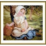 Набор для вышивания арт.ВЫШ -К-07 Девочка с яблоками 32x26 см