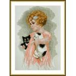 Набор для вышивания арт.ВЫШ -М-01 Девочка,котенок и щенок 15х22 см