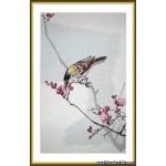 Набор для вышивания арт.ВЫШ -В-04 Птица на цветущей ветке 19x32 см