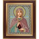 Набор для вышивания бисером GALLA COLLECTION арт. М 202 Св. Анастасия (12х15 см)