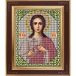 Набор для вышивания бисером GALLA COLLECTION арт. М 207 Св. Вера (12х15 см) (2)