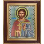 Набор для вышивания бисером GALLA COLLECTION арт. М 213 Св. Евгений (12х15 см)
