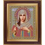 Набор для вышивания бисером GALLA COLLECTION арт. М 221 Св. Лариса (12х15 см)