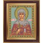 Набор для вышивания бисером GALLA COLLECTION арт. М 226 Св. Наталия (12х15 см)