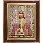 Набор для вышивания бисером GALLA COLLECTION арт. М 229 Св. Раиса (12х15 см)