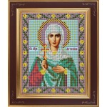 Набор для вышивания бисером GALLA COLLECTION арт. М 243 Св. Антонина(12х15 см)