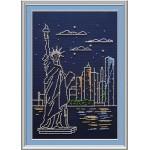 Набор для вышивания бисером МП Студия арт.БК-184 Б Статуя Свободы 30*20