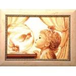 Набор для вышивания бисером Золотые Ручки арт. ГР-002 Заветное желание 45x32 см