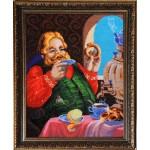 Набор для вышивания бисером Золотые Ручки арт. ЛМ-003 У самовара 40x51 см