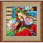 Набор для вышивания бисером Золотые Ручки арт. ЛМ-008 Василинка и шмель