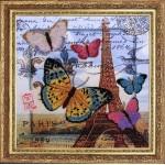 Набор для вышивания BUTTERFLY арт. 107 Привет из Парижа 26х26см