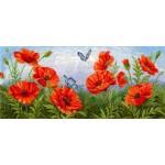 Набор для вышивания Сделай своими руками арт.ССР.Т-09 Торжество цветов. Маки 55х24 см