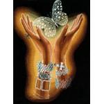 Набор для вышивания Сделай своими руками арт.ССР.Х-04 Хрустальная бабочка 31х40 см
