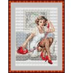 Набор для вышивания Орнамент арт. ЛД-017 В гостиной 21х29