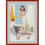 Набор для вышивания Орнамент арт. ЛД-021 В ванной 21х31