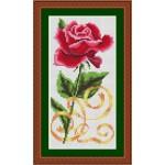 Набор для вышивания Орнамент арт. ВЦ-003 Красная роза 10х20