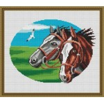 Набор для вышивания Орнамент арт. ЖП-007 Кони 2 27х22