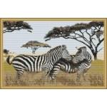 Набор для вышивания Орнамент арт. ЖП-018 Зебры 40х26см