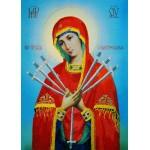 Набор для вышивания РИСУЕМ ИГЛОЙ арт. L-0008 Мини Люкс Икона Божей Матери Семистрельная (20х25 см)