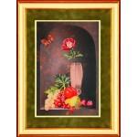 Набор для вышивания РИСУЕМ ИГЛОЙ арт. N0041. Люкс. Фруктовый аромат (30х45 см)
