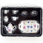 Набор кофейный с подносом арт.AM0100008 Лесные цветы уп.8 шт