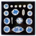 Набор обеденный арт.AM0100010 фарфор уп.17 шт Голубые цветы
