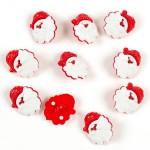 Набор пуговиц Дед Морозарт. Р5681 для скрапбукинга, пластик 12шт