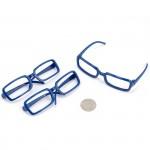 Очки без стекла арт.КЛ.21071 синий 8см прямоугольные пластик