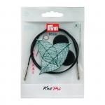 PR.223982 PRYM Леска съемная с 2-мя наконечниками и устройством для монтажа 80см пластик комбинируется со съемными спицами уп.1шт