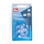 PR.610363 PRYM Шпульки пластик для горизонтально вращающегося челнока 21,2мм цв. прозрачный
