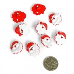 Пуговица арт.48036 Дед Мороз цв.159101 21 мм